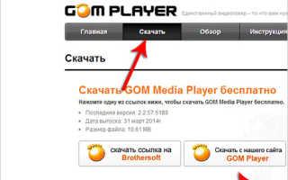 Cкачать программу Gom Player