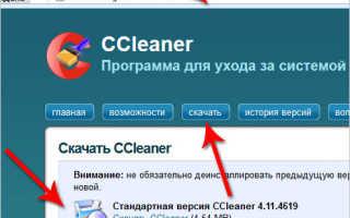 Скачать программу CCleaner для чистки реестра