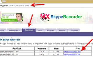 Скачать MX Skype Recorder. Программа для записи разговоров в Скайпе