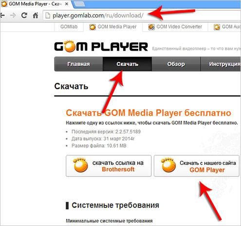 Скачать программу GOM Player