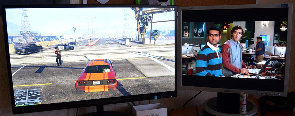 Играть и смотреть фильмы на двух мониторах
