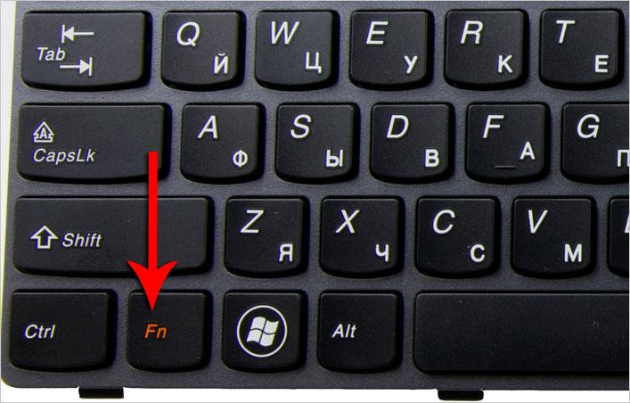 fn на ноутбуке