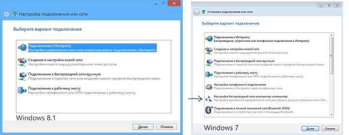 Создание сети в Windows 7 и Windows 8