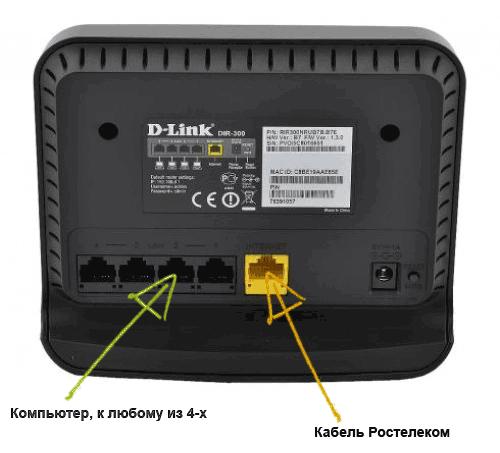 Подключение роутера DIR-300 NRU B7
