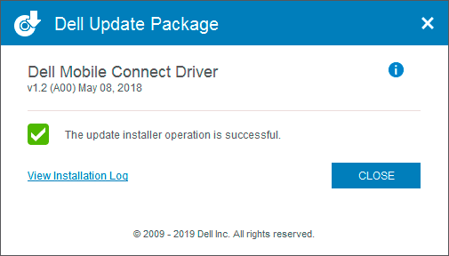 Установка драйвера Dell Mobile Connect