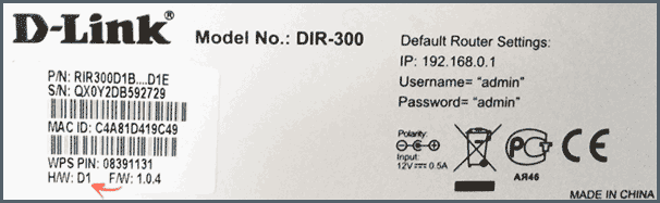 Аппаратная ревизия D1 на наклейке