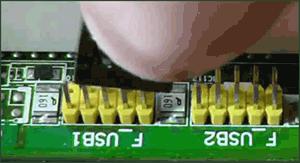 Отключение передних разъемов USB от материнской платы