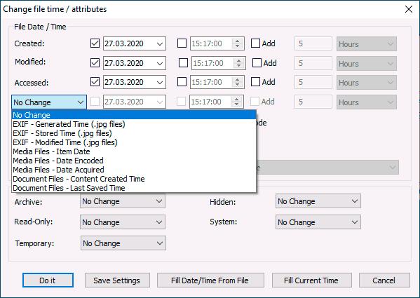 Изменение мета данных файлов в BulkFileChanger