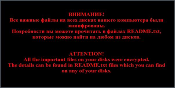 Ваши файлы были зашифрованы