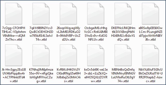 Зашифрованные файлы с расширением .xtbl