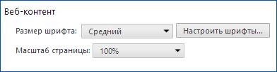 Увеличение шрифта в Chrome