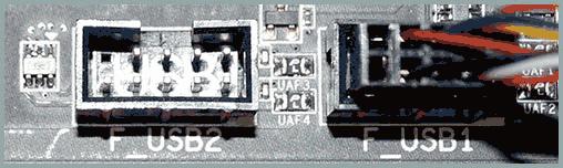 Коннекторы USB передней панели компьютера