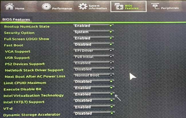 Включение виртуализации в UEFI на материнской плате Gigabyte