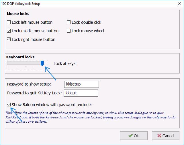 Программа Kids Key Lock для блокирования клавиатуры