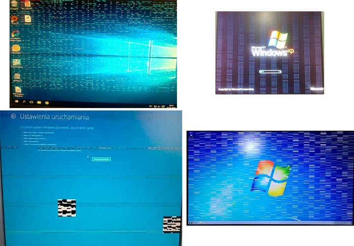 Линии на экране из-за проблем с видеокартой