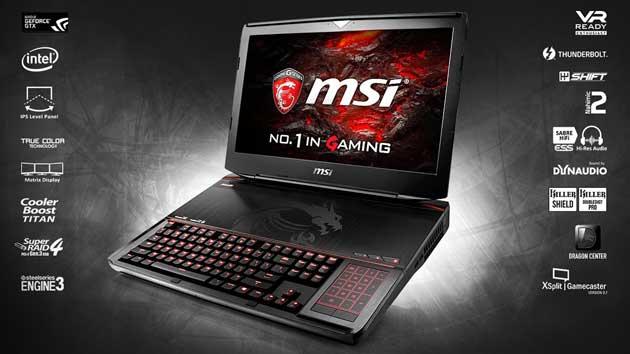 лучший игровой ноутбук MSI GT83VR 7RF Titan SLI