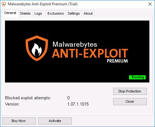 Программа Malwarebytes Anti-Exploit