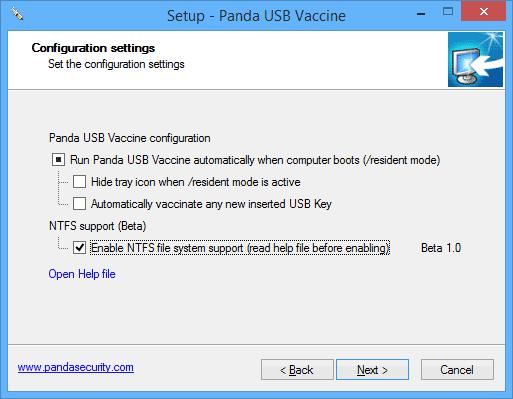 Установка Panda USB Vaccine