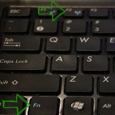 Включение Wi-Fi на ноутбуке с помощью клавиш